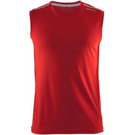 Craft Mind - Débardeur running Homme - rouge